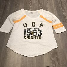 UCF Knights Soffe Long Sleeve White & Yellow Shirt Size Large