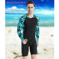 Men's Black Short Sleeve Scuba Snorkeling Surfing Wetsuits Diving Swimming Suits
