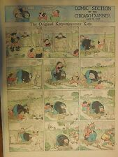 The Katzenjammer Kids by Knerr from 4/29/1917 Very Large Full Size Page !