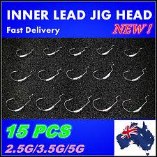 15X 2.5/3.5/5g Like Fishing Inner Lead Jig Head Snaggless Chemically Sharpened