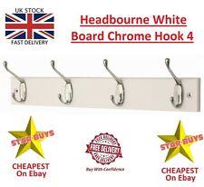 Headbourne White Board Chrome Hook 4 Hooks - Premium Brand - NEW - NEW