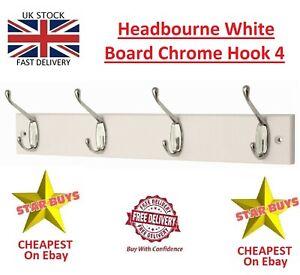Headbourne White Board Chrome Hook 4 Hooks - Premium Brand