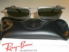 VINTAGE B&L RAY BAN G15 GUNMETAL/TITANIUM SLEEK FUGITIVE AVIATOR SUNGLASSES NEW