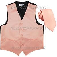 "New Men/'s Vesuvio Napoli Tuxedo Vest 2.5/"" Skinny Necktie party Emerald Green"