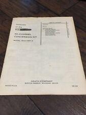 21056E Vintage HEATHKIT 4th Channel Conversation Kit  MANUAL  GDA-1207-4