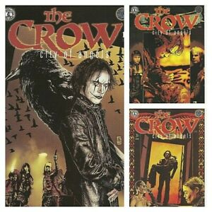 °THE CROW: CITY OF ANGELS 1 bis 3 von 3° 1996 Kitchen SinkPress All covers A