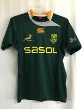 South Africa Size Large Canterbury CCC Green SA Rugby SASOL Embroidered Jersey