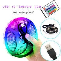 LED Strip Light 7 Colors Change Flexible RGB Stripe Remote Controller Party Deco