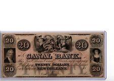 1800s $20 Canal Bank New Orleans, LA  Obsolete Currency LA105-G34  19-C267