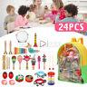 24 Stk Kinder Toy Percussions Hölzern Musikinstrumente Rasselt Spielzeug