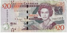 East Caribbean States 20 Dollars 2015 ND Issue Pick #53b Foreign World Banknote
