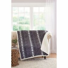 "Better Homes and Gardens 50"" x 60"" Faux Fur and Sherpa Throw"