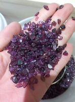 Crystal Reiki Stones Mei red GARNET Chips Rock 1/4lb Tumbled Natural Gemstone