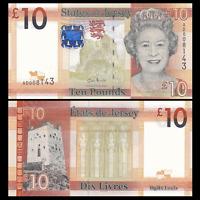 Jersey 10 Pounds, ND(2010), P-34, UNC, Banknotes, Original