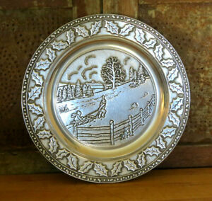 Wilton Armentale 2001 Marshall Fields Limited Edition Plate Winter Christmas