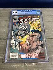 Superman The Man Of Steel #19 CGC 9.8 Doomsday DC Comic Book 1/93