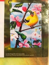 Goldfinch and Flowers Spring / Summer Welcome Screen Printed Garden Flag