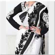 Indiano Pakistano Bollywood Partywear ETNICO di marca cucite Salwar Kameez Sari