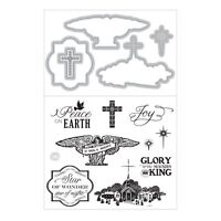 Art C Stamp & Cut - Stamps & Matching Dies - Religion, Christmas Carols, Stable