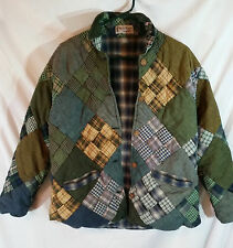 Quilted Jacket Coat Ladies Women's PATCH MAGIC Reversible-L Plaid Good Condition