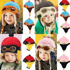Winter Baby Boys Girls Kids Cute Warm Cap Hat Beanie Pilot Crochet Earflap Hats
