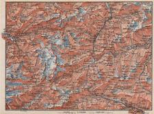 ST GOTTHARD area. Andermatt Engelberg Silenen Gadmen Ulrichen Disentis 1889 map