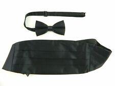 Michelsons Black 100 Silk Cummerbund & Bow Tie Set Adjustable G03