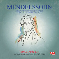 Felix Mendelssohn - Mendelssohn: Song Without Words in a Major Op 62 [New CD] Ma