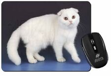 White Scottish Fold Cat Computer Mouse Mat Christmas Gift Idea, AC-109M