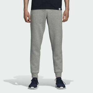 Adidas Originals Slim Fit Fleece Sweatpants Joggers Grey White [DN6010]