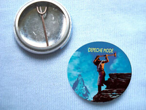 Depeche Mode 25mm  Badge  Fad Gadget Mute Records Speak And Spell Soft Cell