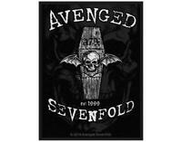 OFFICIAL LICENSED - AVENGED SEVENFOLD -  OVERSHADOWED WOVEN PATCH METAL ROCK