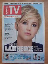 JENNIFER LAWRENCE on front cover Polish Magazine GAZETA TV