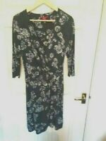 MONSOON Size 16 Fixed Wrap Dress Floral Print Workwear