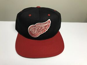 Vintage Detroit Red Wings Sports Specialties Snapback Hat Cap Nhl Plain Logo Ss