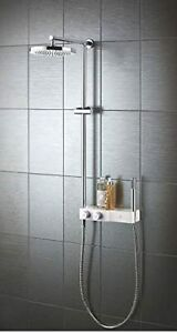 Watersmith Heritage Niagra Exposed Thermostatic Mixer Shower, Diverter CHR/WHT