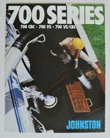 JOHNSTON Truck Cleaner 700 Series 1980 dealer brochure catalog - English - USA