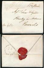 GB QV 1847 SINGLE SHEET FASHIONED as ENVELOPE + SEALED HENLEY in ARDEN WARWICK