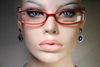 Unworn NOMAD by MOREL 870M Women's Sleek Clear Ruby Red and Lilac Glasses Frames