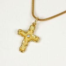 Reinheit SI Sehr gute Echtschmuck-Halsketten & -Anhänger aus Gelbgold