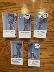 5 Japonesque Mini Lash Curler Deep Lifting Curl - Plus Refill Pad Brand New