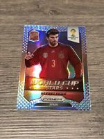 Panini Prizm World Cup Stars 2014 Gerard Pique Spain Barcelona Refractor Card