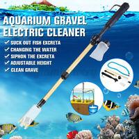 Electric Siphon Vacuum Cleaner Water Filter Pump Kit Aquarium Fish Tank Cleaner