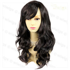 Wiwigs Wonderful Long Dark Brown Wavy Skin Top Heat Resistant Ladies Wig