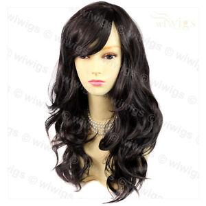 Wiwigs Wonderful Long Dark Brown Wavy Skin Top Heat Resistant Ladies Wig