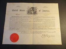 1860 US Citizenship Certificate Gottlob Ade of Wurtenburg Germany arrived 1854