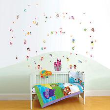 Alphabet Kid Angel Princess Castle Girls Wall Sticker Children Decal Mural paper