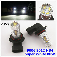 2 Pcs High Power 80W Super White 9006 9012 Led Projector Headlight Bulb Low Beam