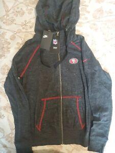Nike Women's NFL San Francisco 49ers Full Zip Hoodie AR8698-032 Size Small
