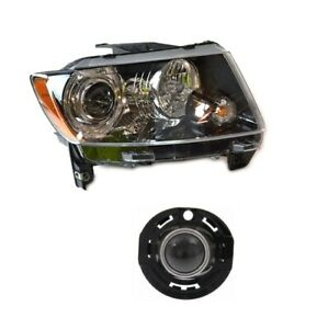 Passenger Right Genuine Headlight Headlamp & Fog Light For Jeep Compass 14-17